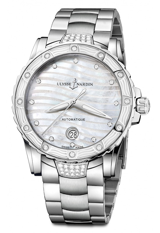 Ulysse Nardin Lady Diver 2014 White Dial Watch